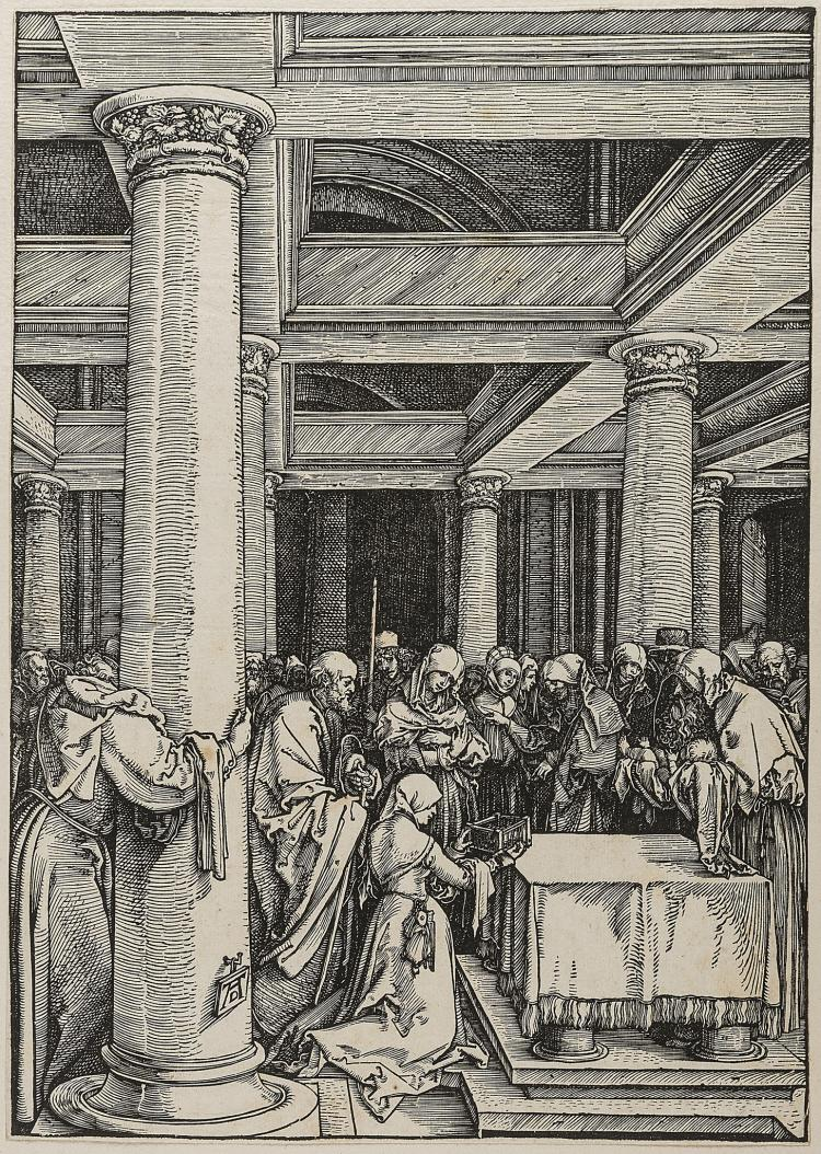 Dürer (Albrecht), The Presentation of Christ in the Temple, from: The Life of the Virgin.