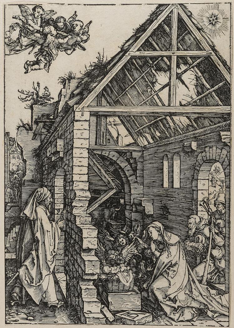 Dürer (Albrecht), Adoration of the Shepherds, from: The Life of the Virgin.