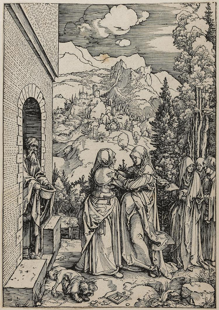 Dürer (Albrecht), The Visitation, from: The Life of the Virgin.