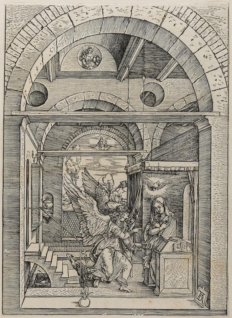 Dürer (Albrecht), The Annunciation, from: The Life of the Virgin, 1503.