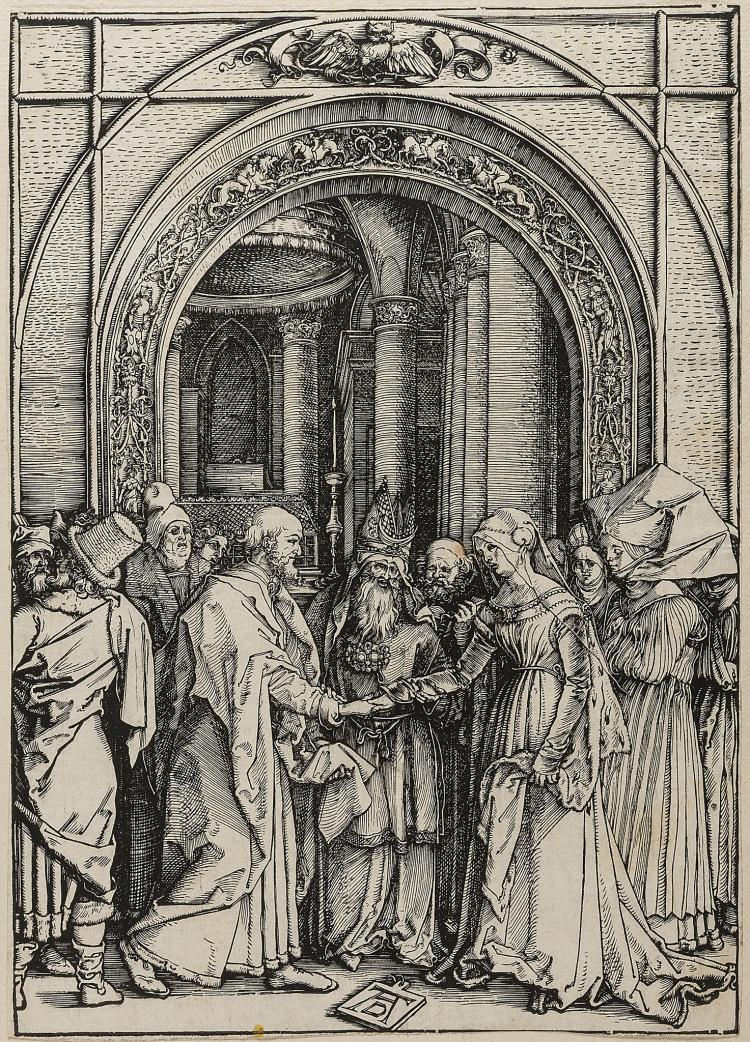 Dürer (Albrecht), The Betrothal of the Virgin, from: The Life of the Virgin.