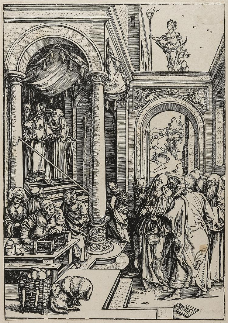 Dürer (Albrecht), The Presentation of the Virgin in the Temple, from: The Life of the Virgin, 1503.