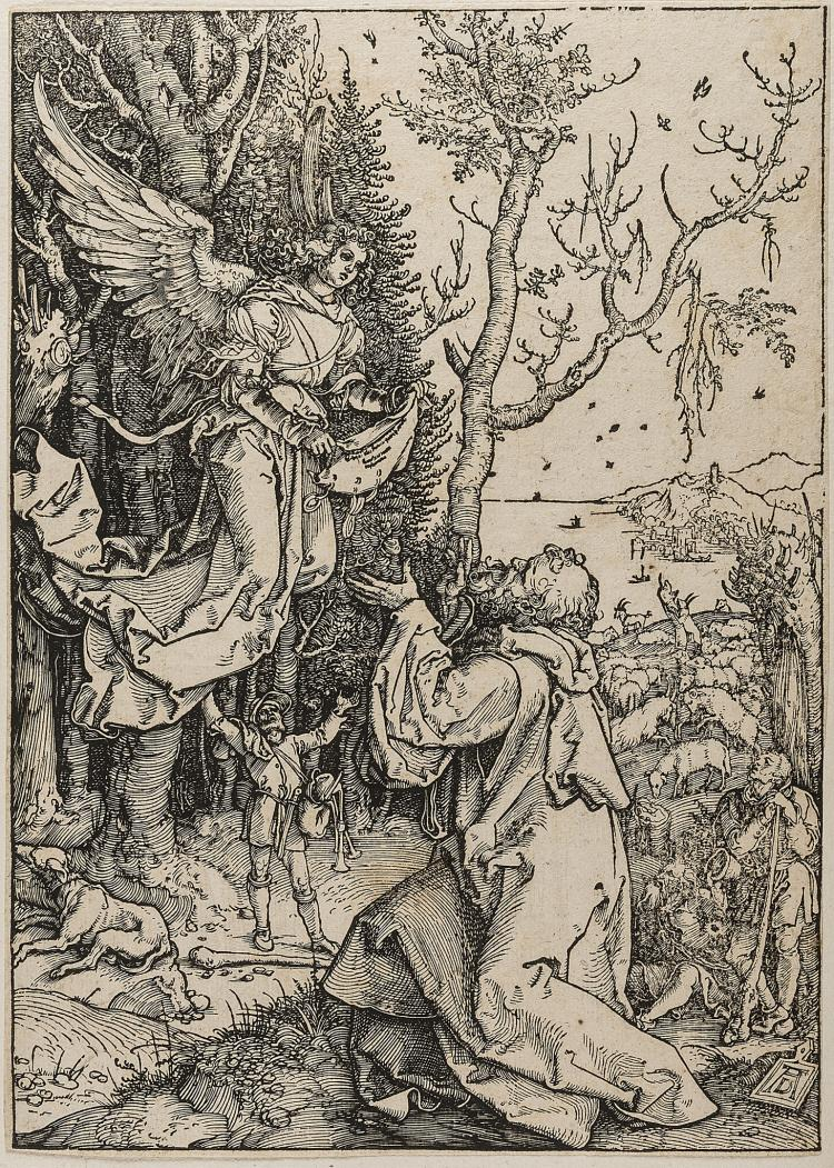 Dürer (Albrecht), Joachim and the Angel, from: The Life of the Virgin.