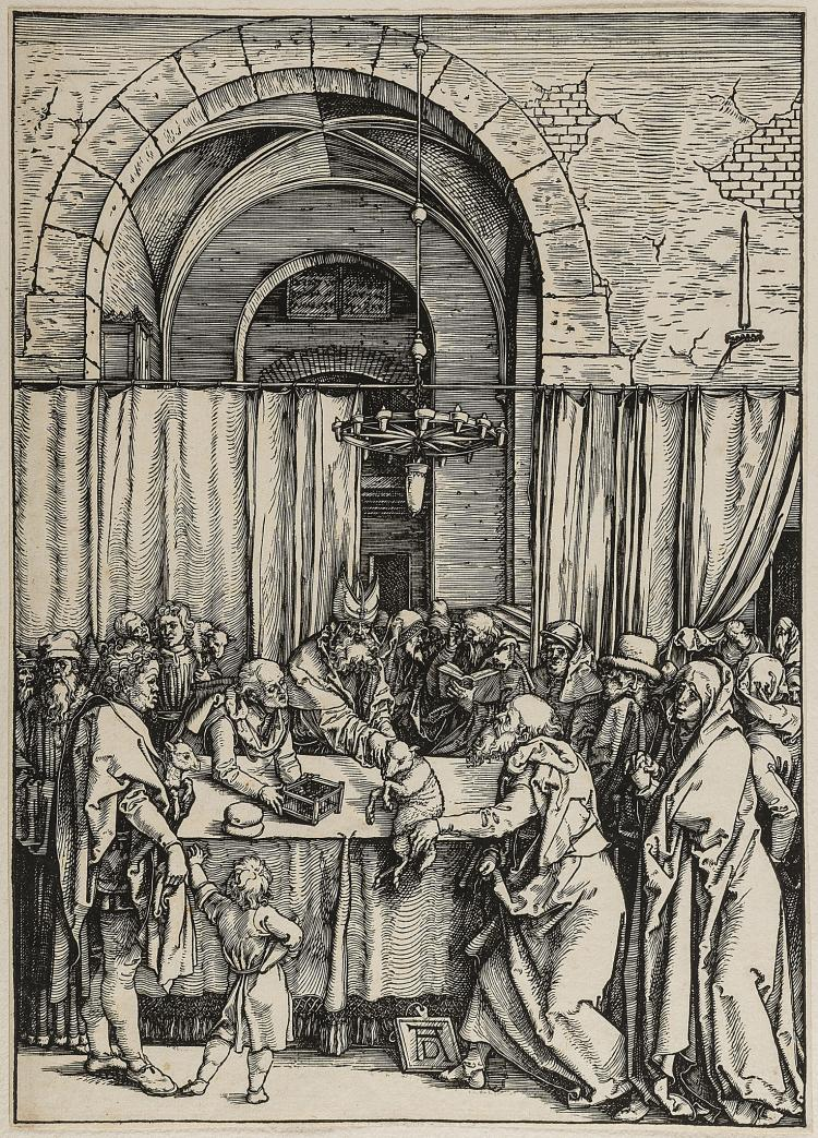 Dürer (Albrecht), The Rejection of Joachim's Offering, from: The Life of the Virgin, 1504.