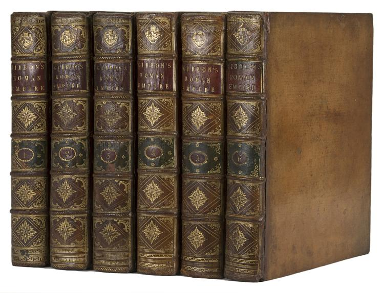 Gibbon (Edward) The History of the Decline and Fall of the Roman Empire, 6 vol., first edition, 1776-88.