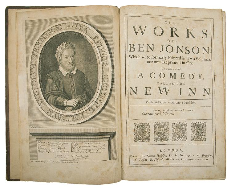 Jonson (Ben) The Works... to Which is Added a Comedy, Called The New Inn, third folio edition, 1692.