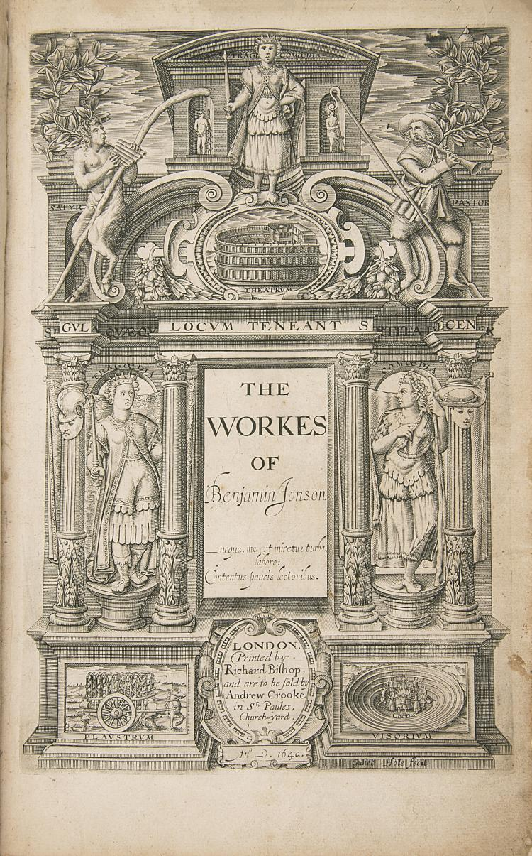 Jonson (Ben) The Workes..., second collected edition, 1640.