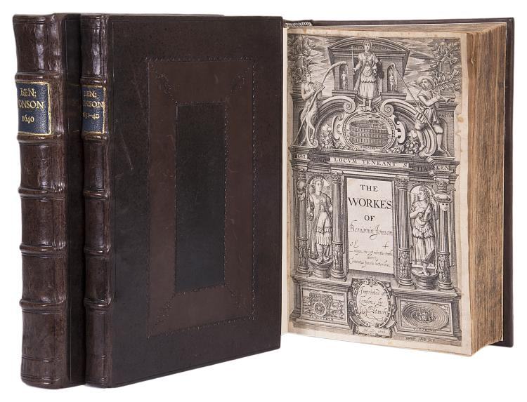 Jonson (Ben) The Workes..., 3 vol., first collected edition, 1616-40.