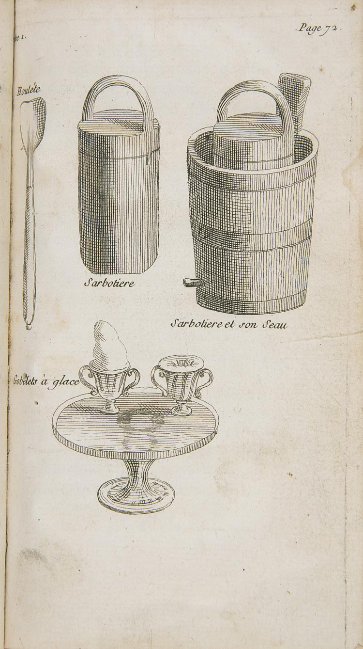 Food & Drink.- Ices.- Emy (M.) L'Art de Bien faire Les Glaces d'Office, 1768.