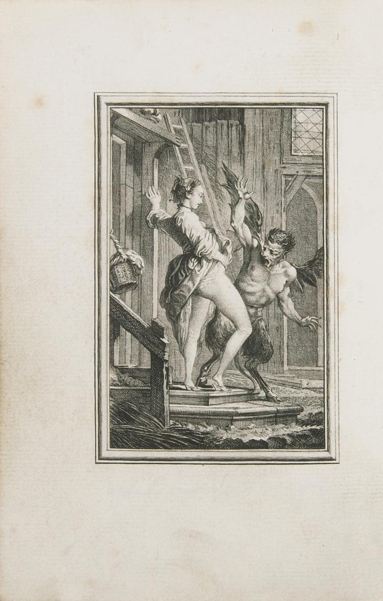 La Fontaine (Jean de) Contes et Nouvelles en Vers, 2 vol., Fermier-Généraux edition, eng. plates by Eisen, cont. red morocco, gilt, Amsterdam [Paris], 1762.