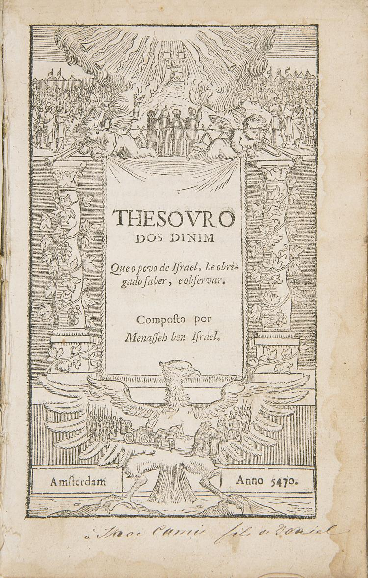 Menasseh ben Israel. Thesouro dos Dinim, 1710.
