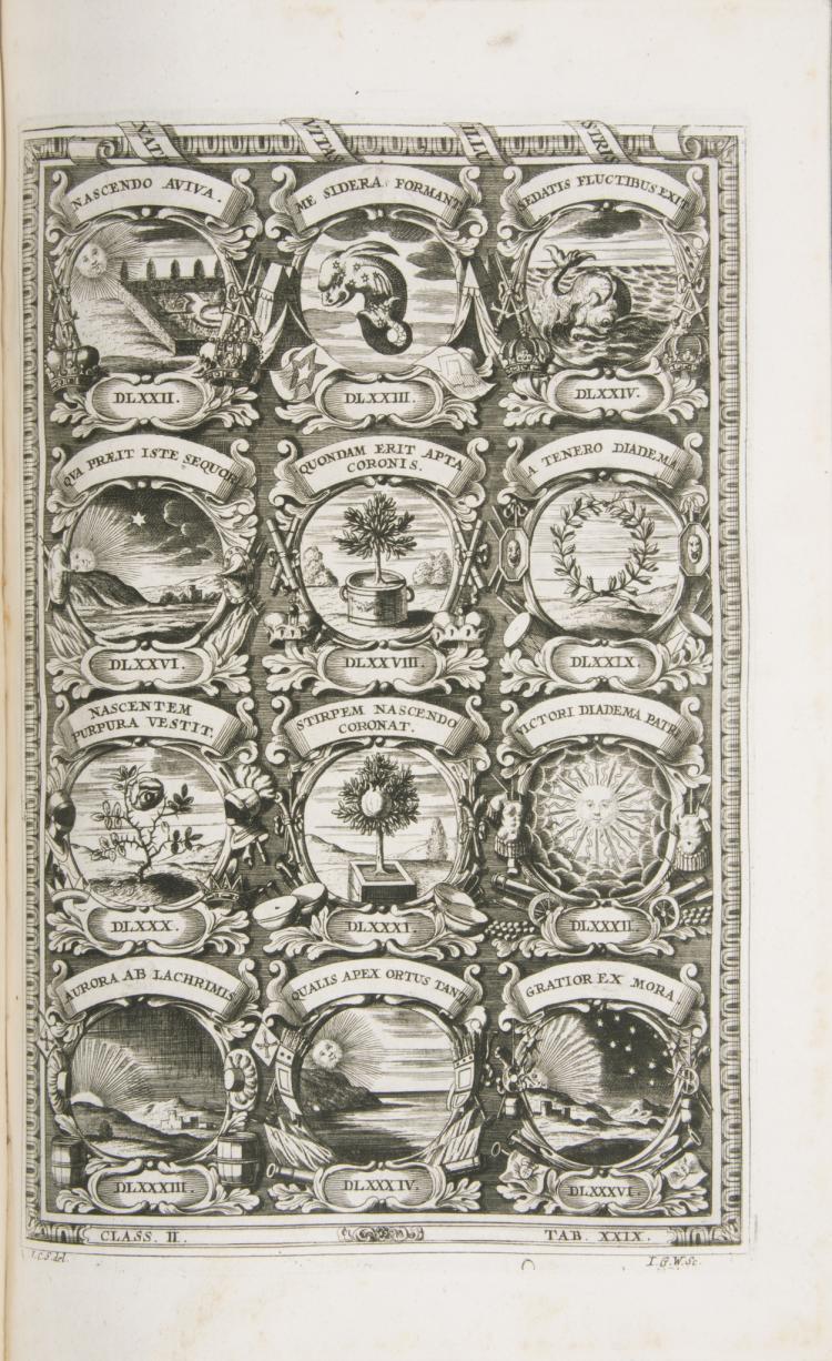 Emblemata.- Bosch (Jacob) Symbolographia sive de Arte Symbolica Sermones Septem, 1702.