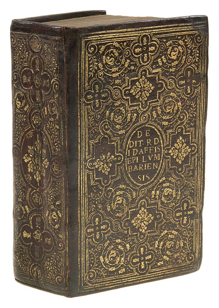 Fanfare binding.- Cicero (Marcus Tullius) Les Sentences Ilustres, 1589.