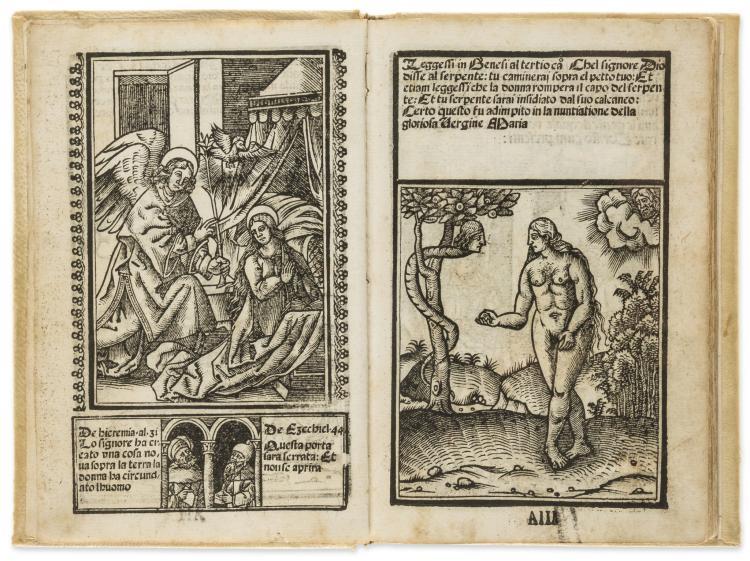 Block book.- Vavassore (Giovanni Andrea) Opera nova contemplativa, Venice, 1530.