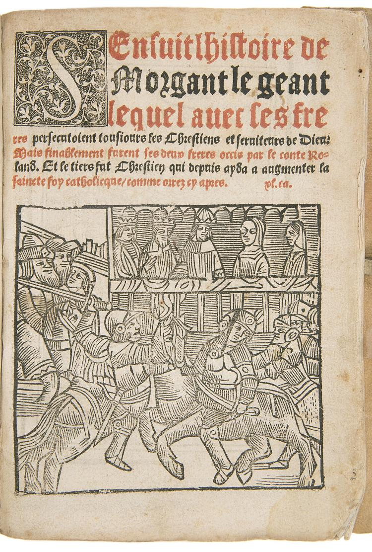 Pulci (Luigi) S'ensuit l'histoire de Morgant le Geant..., Paris, Alain Lotrian, 1536.