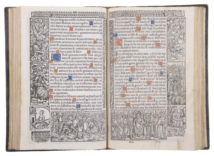 Book of Hours.-  Horae divine virginis Marie, printed on vellum, Paris, Germain Hardouyin, 1520.