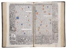 Book of Hours.-  Horae divine virginis Marie, printed on vellum, Paris, Germain Hardouyin, 1520.