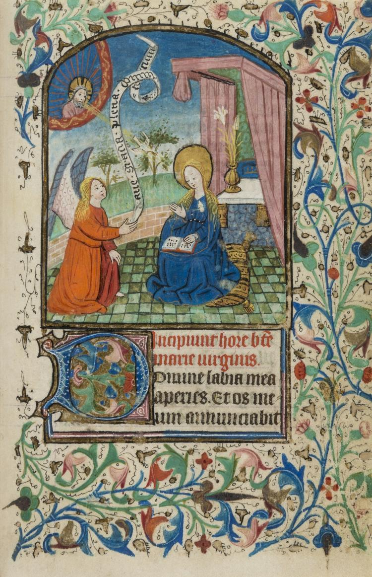 Book of Hours, 100ff., 13 large miniatures, Southern Flanders, second half of 15th century.