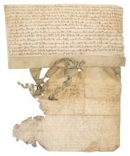 Staffordshire.- Ferrers (William de) Charter, 1240 (2).