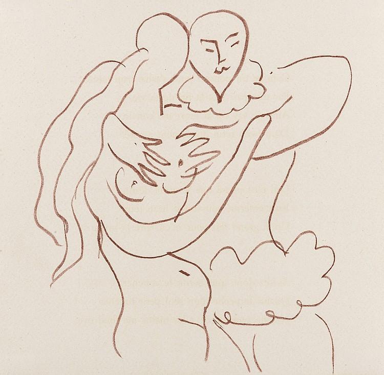 δ Henri Matisse (1869-1954) Untitled (from Florilège des Amours de Ronsard (Duthuit books 25))