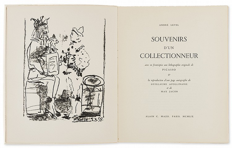 δ Picasso (1881-1973) Les Saltimbanques (from Souvenirs d'un Collectionneur) (Cramer Books 99)