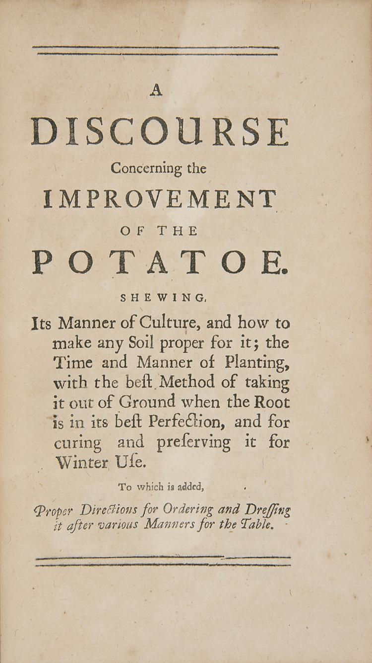 Food & Drink.- Potatoes.- Bradley (Richard) The Compleat Fruit and Flower Gardener, 1733.