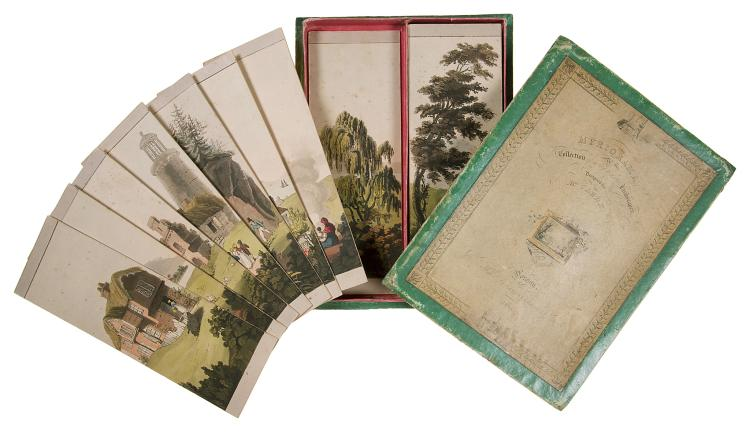 Britain.- Myriorama, A Collection of many Hundred Landscapes, Designed by Mr.Clark, 1824.