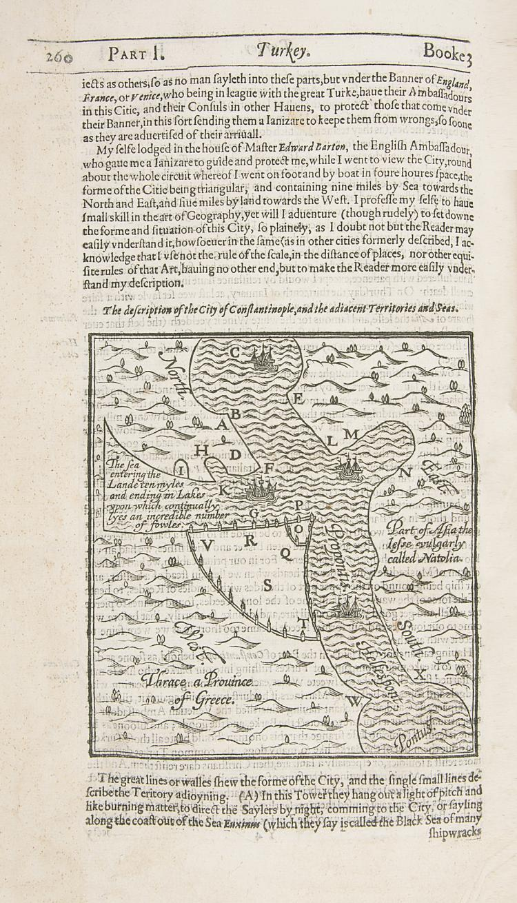 Levant.- Moryson (Fynes), An Itinerary...Containing his ten Yeeres Travel through the twelve Dominions Germany...Switzerland...Italy...Turky...Ireland, 1617.