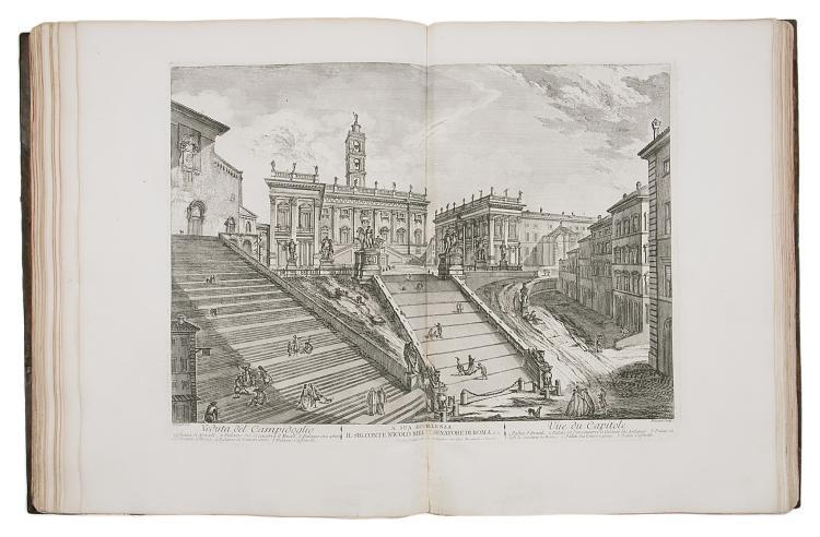 Italy.- Barbault (Jean) Les Plus Edifices de Rome Moderne..., eng. plan, 44 plates & 21 vignettes, Rome, 1763.