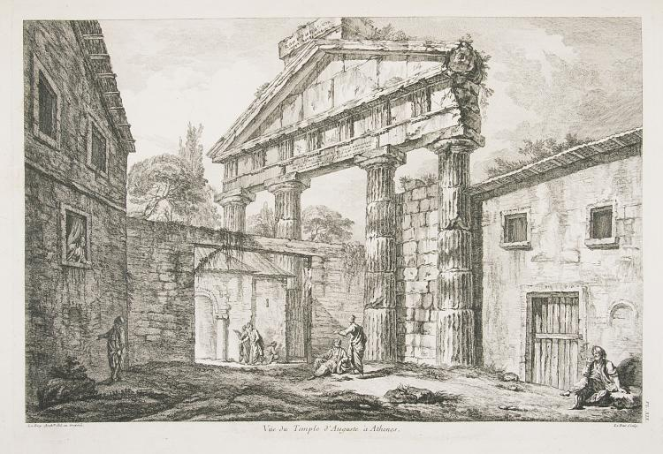 Greece.- Le Roy (Julien David) Les Ruines des plus beaux Monuments de la Grece, 2 parts in 1, 60 eng. plates, Paris, 1758.