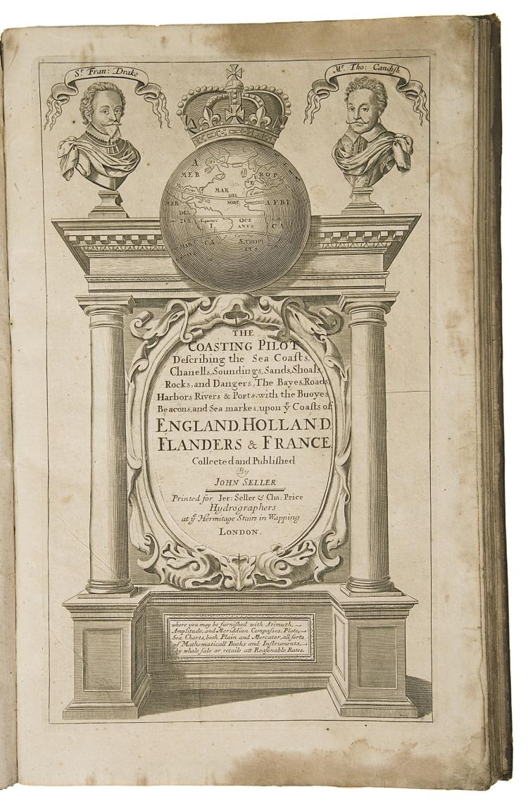 Atlases.- Seller (John) The Coasting Pilot..., 13 double-page engraved charts, [c.1703], apparently unrecorded edition