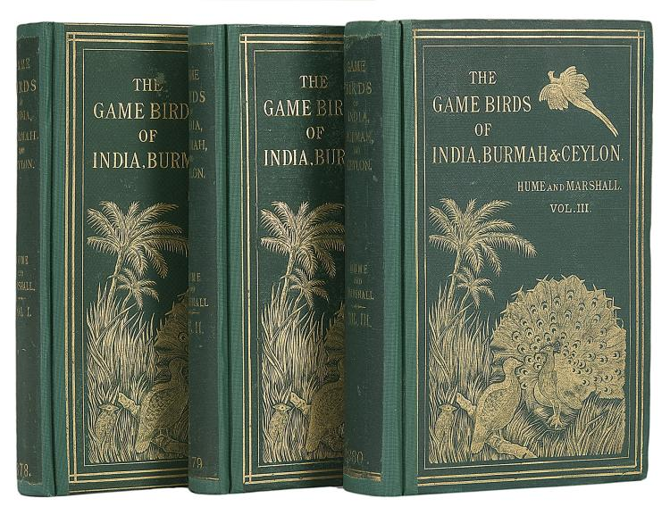 Birds.- Hume  (Allan Octavian) and Charles H.T.Marshall., The Game Birds of India, Burmah and Ceylon, Calcutta, 3 vol., 1st ed., 1878-81; and 10 others, India (13)