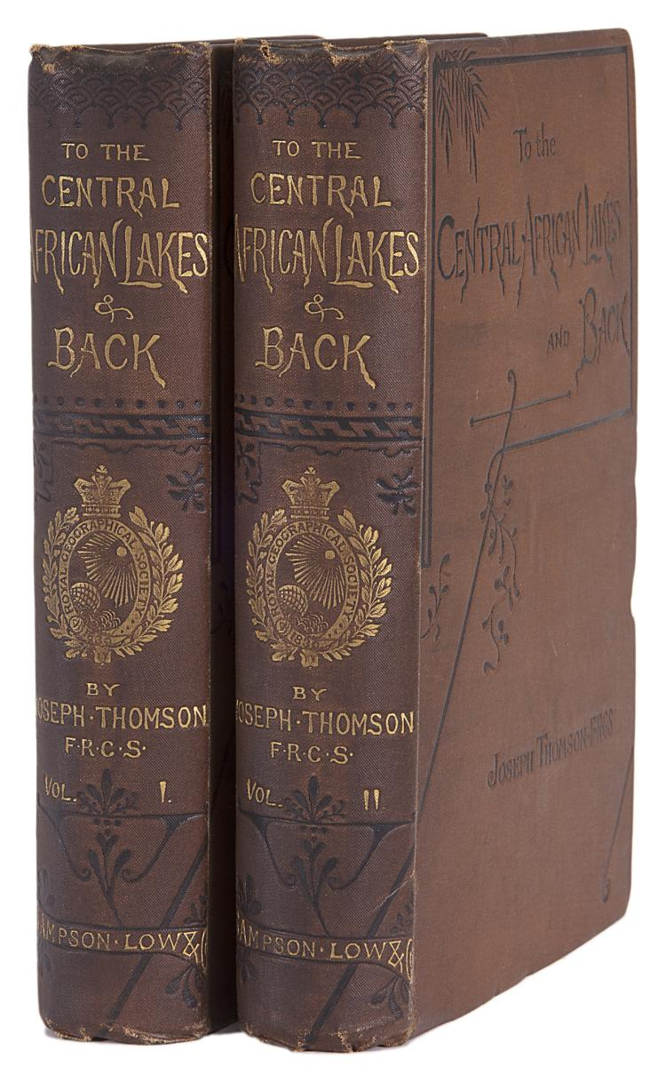 Africa.- Thomson (Joseph) To the Central African Lakes and Back, 2 vol., 1st ed., orig. cloth, 1881.