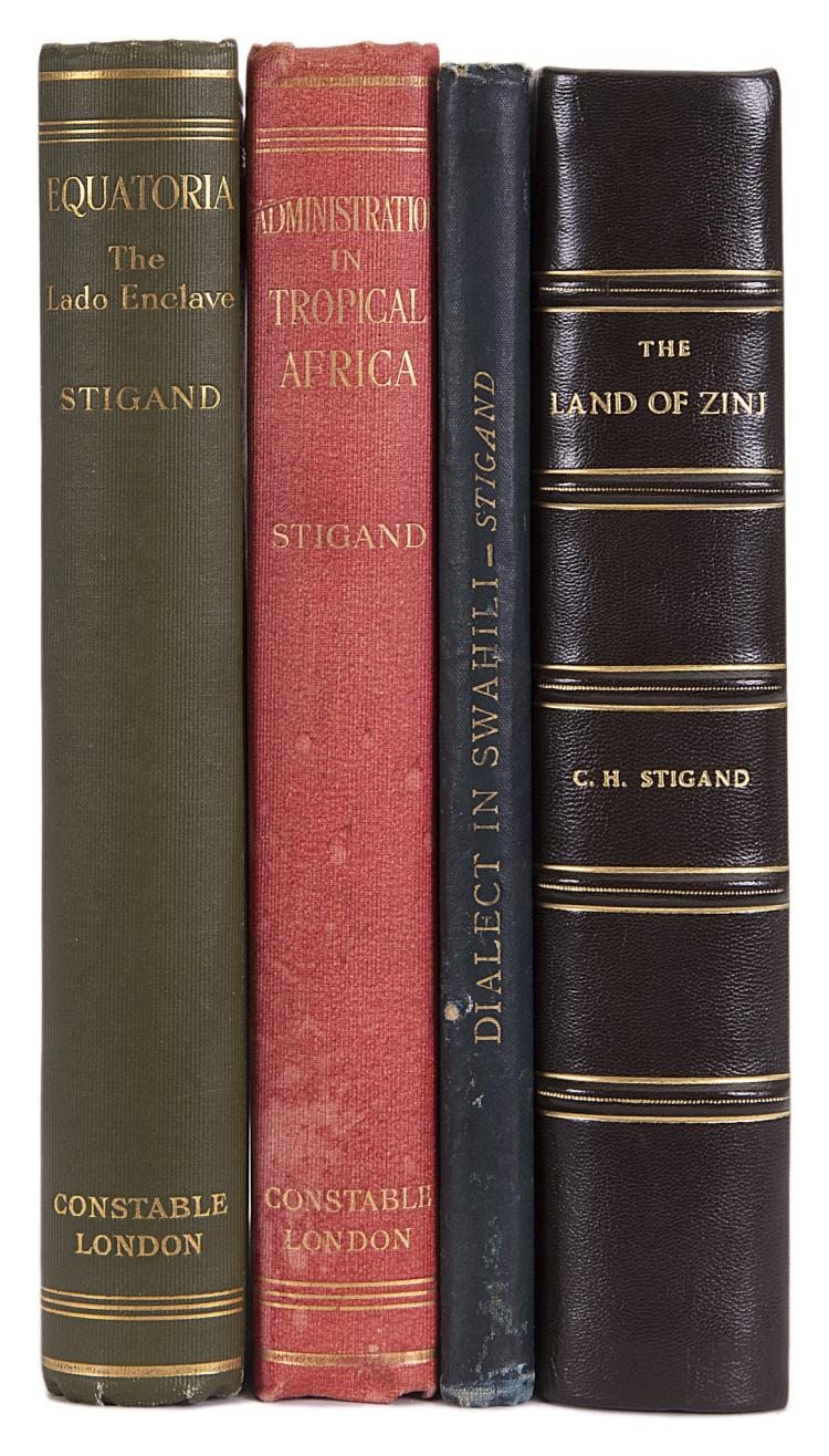 Africa.- Stigand (Capt. C.H.) Equatoria: The Lado Enclave, 1st ed., orig. cloth, 1923 & 3 others by Stigand (4)