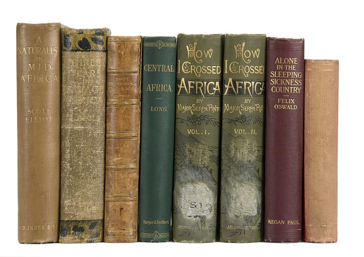 Africa.- Petherick (John) Egypt, the Soudan and Central Africa, 1st ed., cont. half calf, 1861 & others, Central Africa (8)