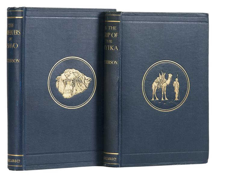 Africa.- Patterson (Lt.-Col. J.H.), The Man-Eaters of Tsavo, 1907; In the Grip of the Nyika, 1909, 1st eds., orig. cloth (2)