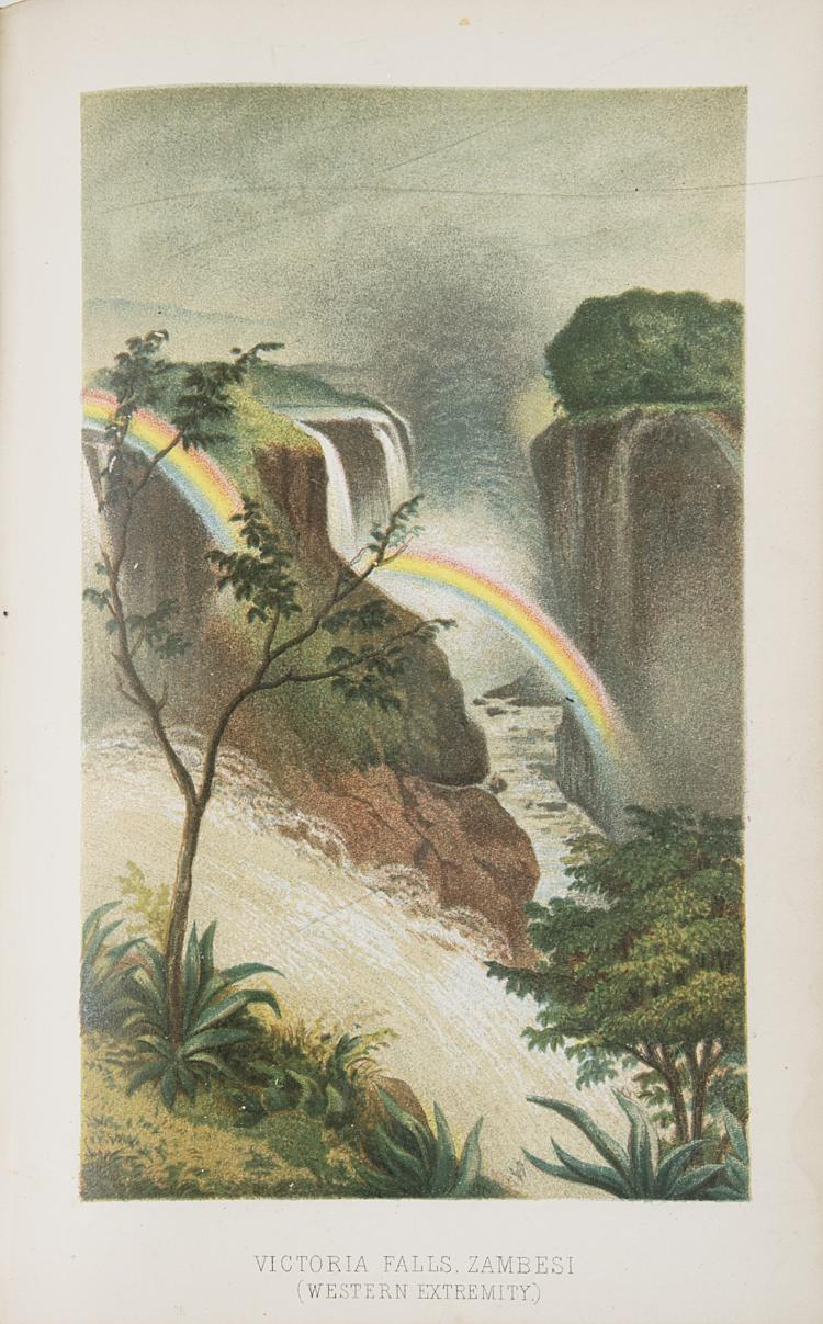 Africa.- Oates (Frank) Matabele Land and the Victoria Falls, 1st ed., 4 chromo & 10 hand-col. lith. plates, cont. half calf, 1881 & 5 others, South Africa (6)