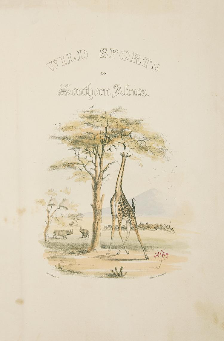 Africa.- Harris (William Cornwallis), The Wild Sports of Southern Africa, 1844.