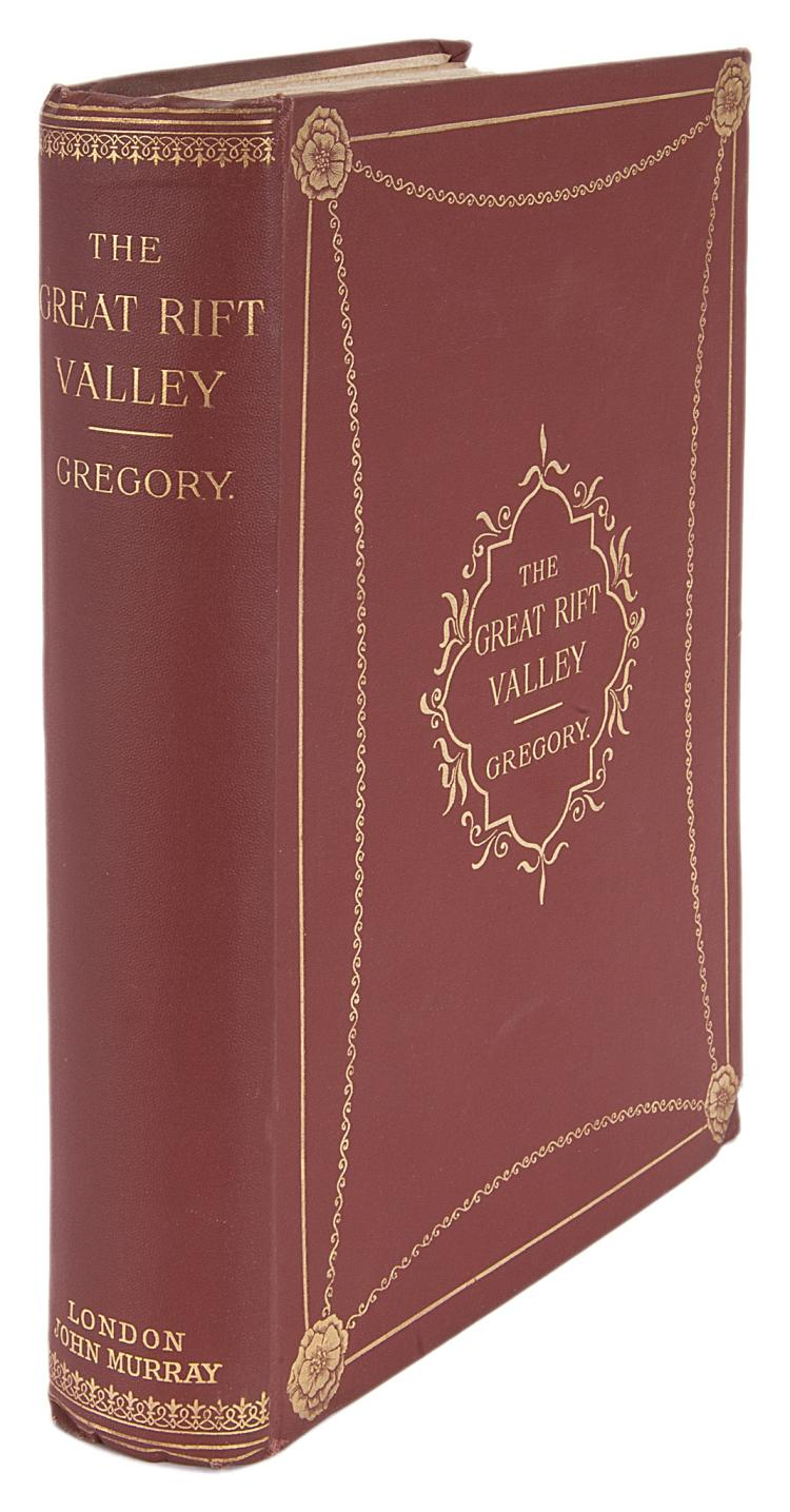 Africa.- Gregory (J.W.) The Great Rift Valley, 1896; The Rift Valleys and Geology of East Africa, 1921, 1st eds., orig. cloth (2)