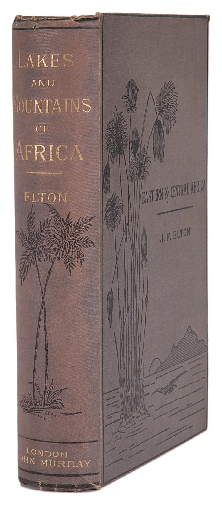Africa.- Elton (J.Frederic) Travels and Researches among the Lakes and Mountains of Eastern & Central Africa, 1st ed., orig. cloth, 1879.