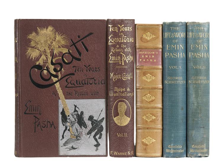Africa.- Casati (Maj. Gaetano), Ten Years in Equatoria and the Return with Emin Pasha, 2 vol., 1st Eng. ed., orig. cloth, 1891 & others, Emin Pasha (5)