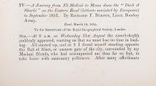 Africa.- Burton & others.- Royal Geographical Society. [Journal], 1855 & Geographical Journal, 1895, containing important papers by or about Burton, Livingstone, Selous, Johnston, Hinde etc. (4)