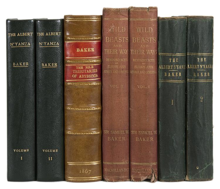 Africa.- Baker  (Sir Samuel White), The Albert N'yanza, Great Basin of the Nile, 2 vol., 1866 & others, Baker (6)