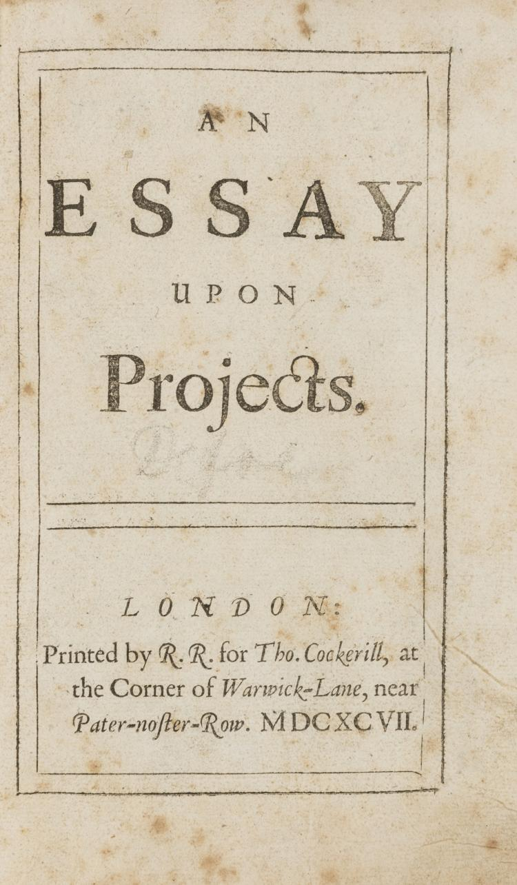 daniel defoe essay on projects Daniel defoe se narodil v free non-fiction for you to read at this online library history of english literature including a daniel defoe an essay upon projects new.