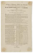 Bristol.- Broadside.-.- , A List of Persons Killed and Wounded (At The Late Riots in Bristol respecting the Bridge Tolls.) On the memorable Evening of the 30th September, 1793, In Consequence of the Fire from the Military..., unrecorded, no printer, 1793.