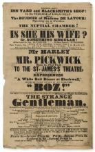 Dickens (Charles).- Mr Harley Will in the Character of Mr. Pickwick Make his First Visit to the St. James's Theatre, And relate, to a Scotch Air, his Experiences of