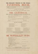 Dickens (Charles).- An Entirely New and Original Domestic Melo-Drama, in Two Acts, by Mr. Wilkie Collins, now first performed, called The Lighthouse, 1855.