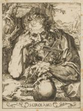 Circle of Agostino Carracci (1557-1602) St Jerome, after Francesco Vanni (1563-1610), [circa 1590s].