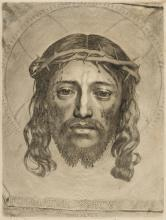 Mellan (Claude, 1598-1688) The Holy Face, or the Veil of St Veronica, [c. 1649 and later].