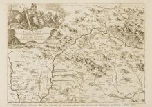 Italy.- Rossi (Giacomo Giovanni) Patrimonto di S. Pietro, olim Tuscia Suburbicaria, four sheet map, 1696; Il Lazio, four sheet map, 1693.